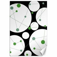 Decorative circles - green Canvas 20  x 30
