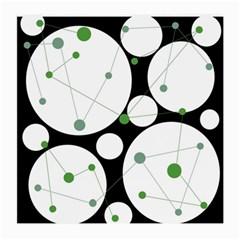 Decorative circles - green Medium Glasses Cloth