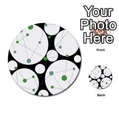 Decorative circles - green Multi-purpose Cards (Round)