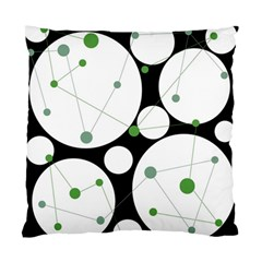 Decorative circles - green Standard Cushion Case (Two Sides)