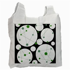 Decorative circles - green Recycle Bag (Two Side)