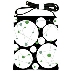 Decorative circles - green Shoulder Sling Bags