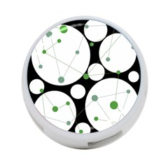 Decorative circles - green 4-Port USB Hub (One Side)