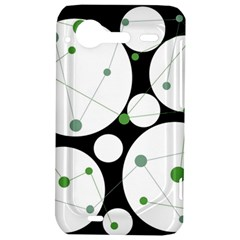 Decorative circles - green HTC Incredible S Hardshell Case
