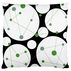 Decorative circles - green Large Cushion Case (Two Sides)