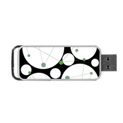 Decorative circles - green Portable USB Flash (Two Sides)