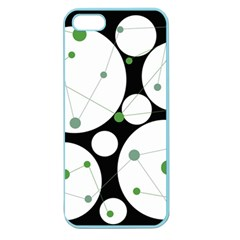 Decorative circles - green Apple Seamless iPhone 5 Case (Color)