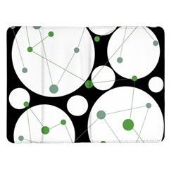 Decorative circles - green Kindle Fire (1st Gen) Flip Case