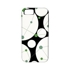 Decorative circles - green Apple iPhone 5 Classic Hardshell Case (PC+Silicone)