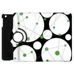 Decorative circles - green Apple iPad Mini Flip 360 Case