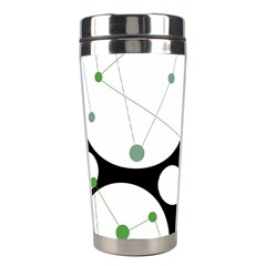 Decorative circles - green Stainless Steel Travel Tumblers