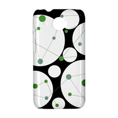 Decorative circles - green HTC Desire 601 Hardshell Case