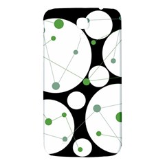 Decorative circles - green Samsung Galaxy Mega I9200 Hardshell Back Case