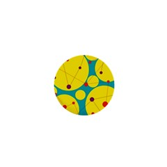 Yellow and green decorative circles 1  Mini Buttons