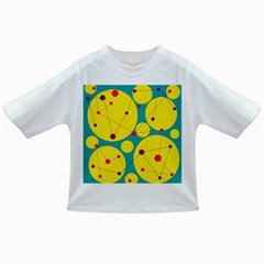 Yellow and green decorative circles Infant/Toddler T-Shirts