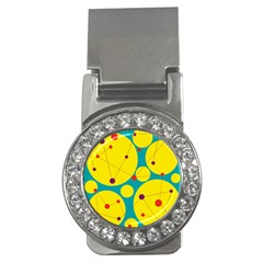 Yellow and green decorative circles Money Clips (CZ)