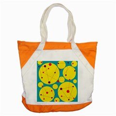 Yellow and green decorative circles Accent Tote Bag