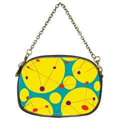 Yellow and green decorative circles Chain Purses (One Side)