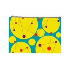 Yellow and green decorative circles Cosmetic Bag (Large)