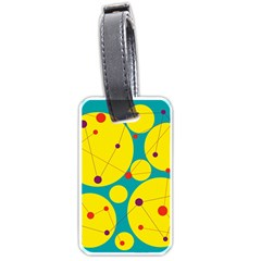 Yellow and green decorative circles Luggage Tags (One Side)