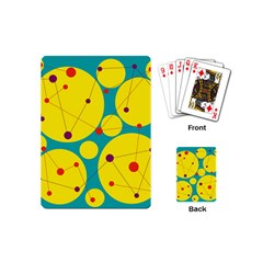 Yellow and green decorative circles Playing Cards (Mini)