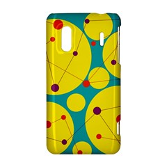 Yellow and green decorative circles HTC Evo Design 4G/ Hero S Hardshell Case