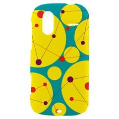 Yellow and green decorative circles HTC Amaze 4G Hardshell Case