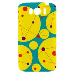 Yellow and green decorative circles HTC Sensation XL Hardshell Case
