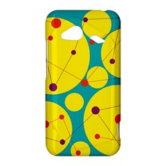 Yellow and green decorative circles HTC Droid Incredible 4G LTE Hardshell Case