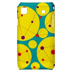 Yellow and green decorative circles Samsung Galaxy S i9000 Hardshell Case