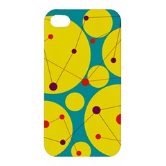 Yellow and green decorative circles Apple iPhone 4/4S Premium Hardshell Case