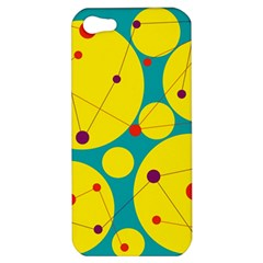 Yellow and green decorative circles Apple iPhone 5 Hardshell Case