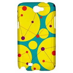 Yellow and green decorative circles Samsung Galaxy Note 2 Hardshell Case