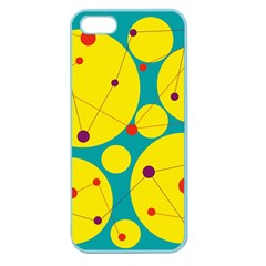 Yellow and green decorative circles Apple Seamless iPhone 5 Case (Color)