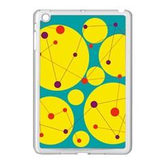 Yellow and green decorative circles Apple iPad Mini Case (White)
