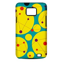 Yellow and green decorative circles Samsung Galaxy S II i9100 Hardshell Case (PC+Silicone)