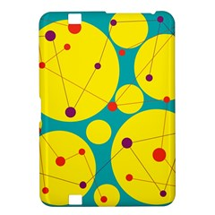 Yellow and green decorative circles Kindle Fire HD 8.9