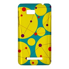 Yellow and green decorative circles HTC One SU T528W Hardshell Case