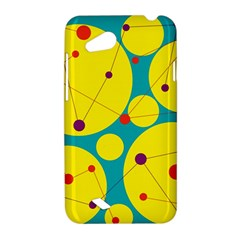 Yellow and green decorative circles HTC Desire VC (T328D) Hardshell Case