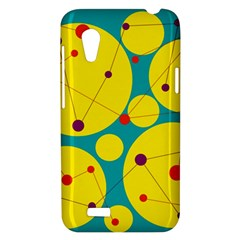 Yellow and green decorative circles HTC Desire VT (T328T) Hardshell Case