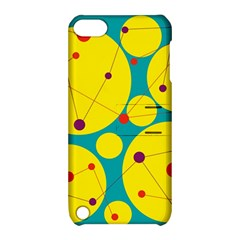 Yellow and green decorative circles Apple iPod Touch 5 Hardshell Case with Stand