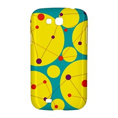 Yellow and green decorative circles Samsung Galaxy Grand GT-I9128 Hardshell Case