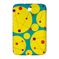 Yellow and green decorative circles Samsung Galaxy Note 8.0 N5100 Hardshell Case