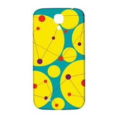 Yellow and green decorative circles Samsung Galaxy S4 I9500/I9505  Hardshell Back Case