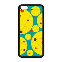 Yellow and green decorative circles Apple iPhone 5C Seamless Case (Black)
