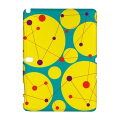 Yellow and green decorative circles Samsung Galaxy Note 10.1 (P600) Hardshell Case