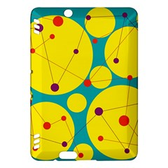 Yellow and green decorative circles Kindle Fire HDX Hardshell Case