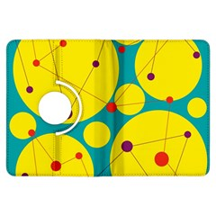 Yellow and green decorative circles Kindle Fire HDX Flip 360 Case