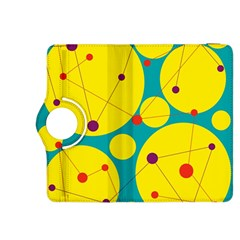 Yellow and green decorative circles Kindle Fire HDX 8.9  Flip 360 Case