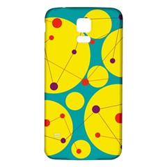 Yellow and green decorative circles Samsung Galaxy S5 Back Case (White)